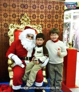 Visita de Papá Noel a domicilio
